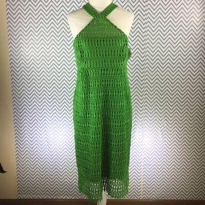 Shoshanna cotton eyelet hater dress NWT